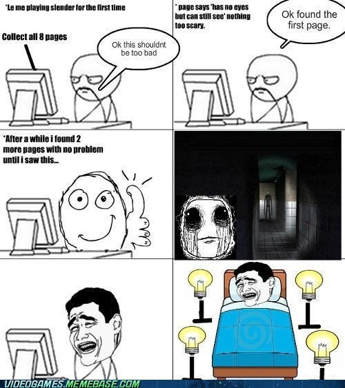 night lights,PC,rage comic,slender