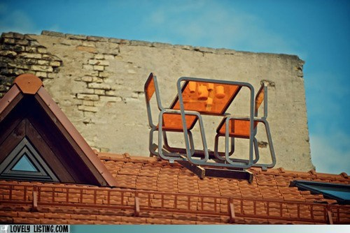 chairs,peak,roof,scary,table