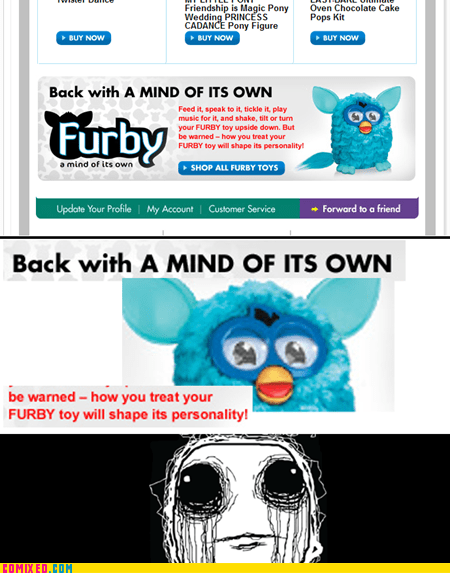 creepy,furby,the internets,toy