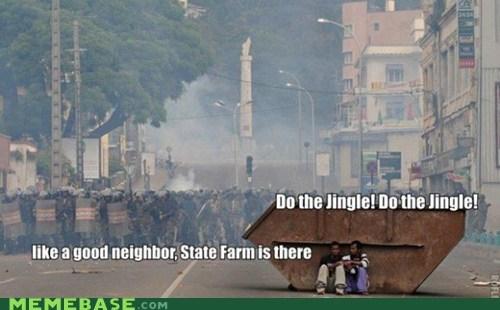 commercials jingle like a good neighbor machine gun Memes state farm - 6498062592
