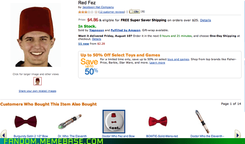 amazon,bbc,cosplay,doctor who,FEZ