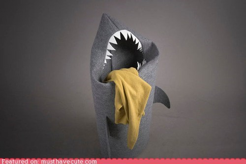 hamper laundry mouth shark teeth - 6498099456