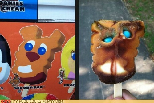 face,FAIL,gross,ice cream,Nailed It,popsicle,scooby doo