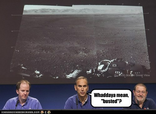 "(C) 2008 Google Street View Whaddaya mean, ""busted""?"