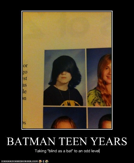"BATMAN TEEN YEARS Taking ""blind as a bat"" to an odd level"