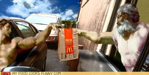 Adam,creatin of man,god,McDonald's