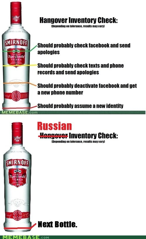 drinking hangover Memes russia vodka - 6498338816
