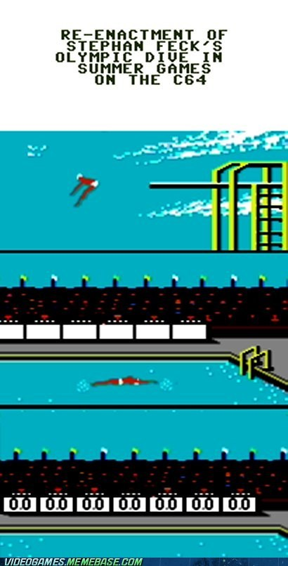 commodore 64 retro Stephan Feck summer games the olympics