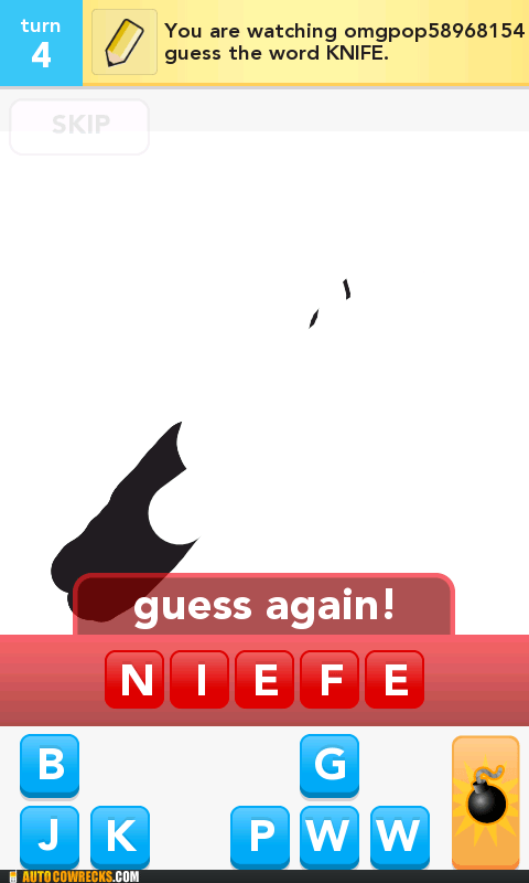 draw something,knife,niefe,spelling