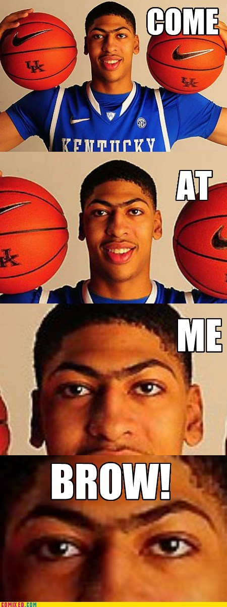 anthony davis brow come at me bro sports unibrow - 6498998272