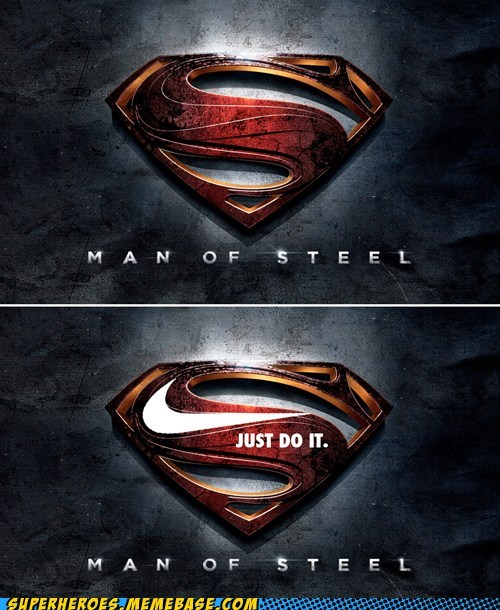 advertising,nike,Random Heroics,superman,symbol