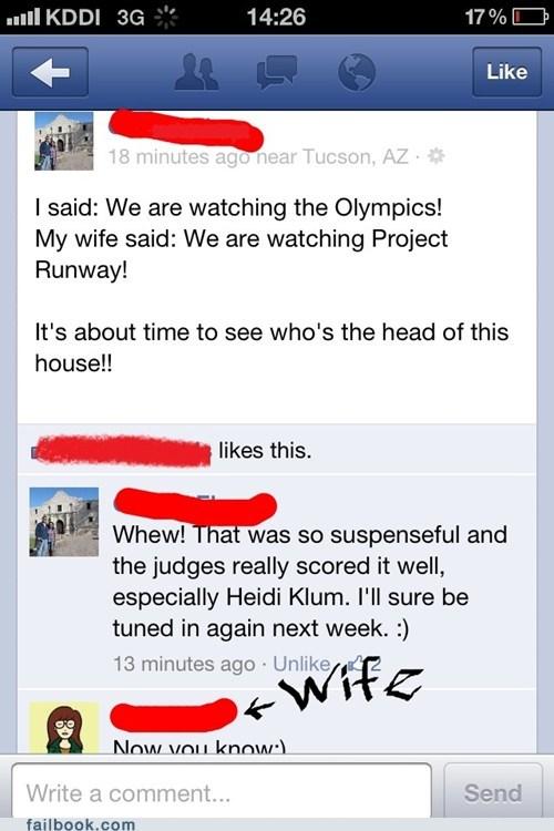 Olympics vs Project Runway