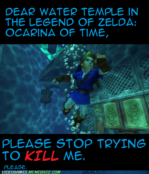 ocarina of time,the feels,water dungeon,zelda