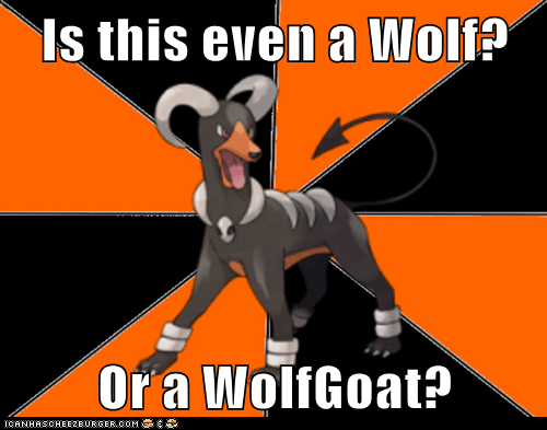 Is This Even A Wolf Or A Wolfgoat Pokémemes Pokémon Pokémon Go