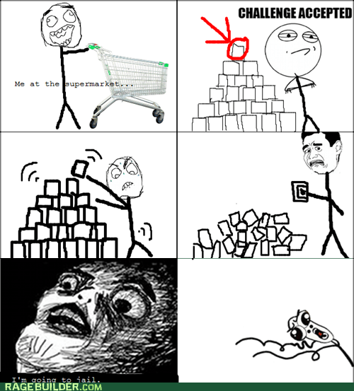 cans,omg run,Rage Comics,raisin face,stack,supermarket