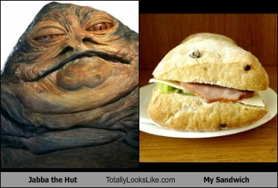 funny,jabba the hutt,sandwich,star wars,TLL