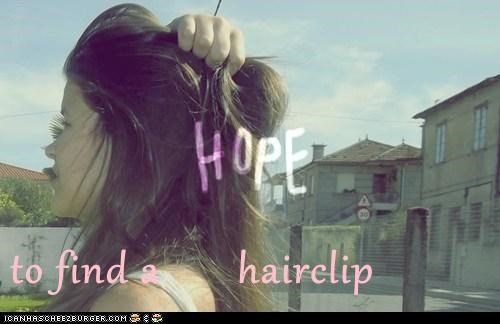 hairclip,hipster edit,hope