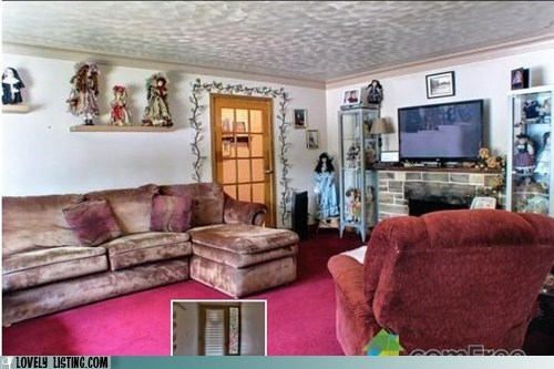 creepy,dolls,pink,shelves,velour,velvet