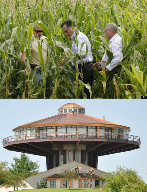 election 2012,romney visits a farmer