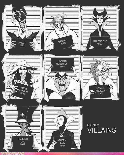animation captain hook cruella de ville disney dr facilier evil queen funny jafar jail Maleficent mugshot queen of hearts ursula villain - 6500124160