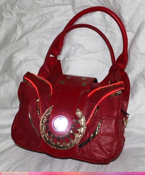 comics fashion funny celebrity pictures geek iron man purse - 6500311808