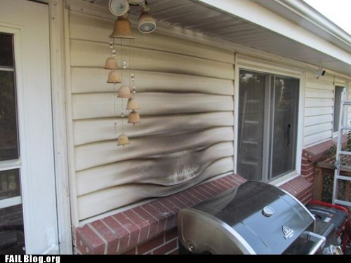 grill,house,melting,siding