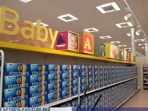 beer,baby,fosters,funny,grocery store,after 12,g rated