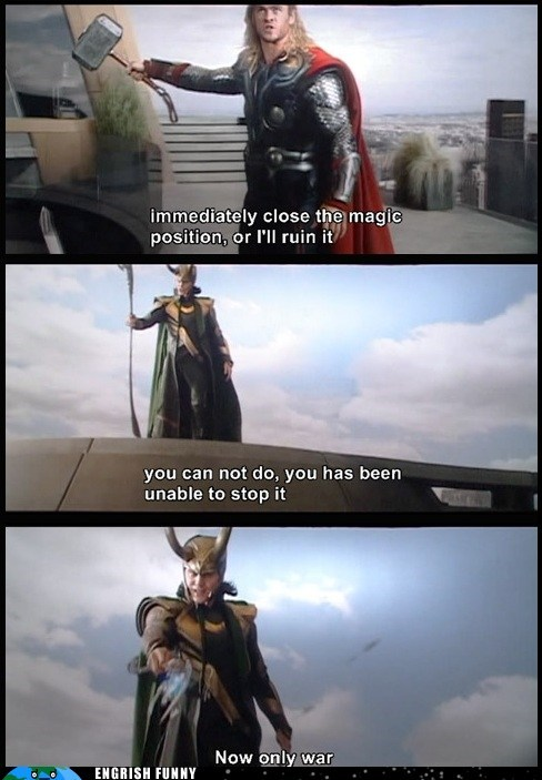 DVD engrish funny g rated loki subtitles The Avengers Thor - 6500415232