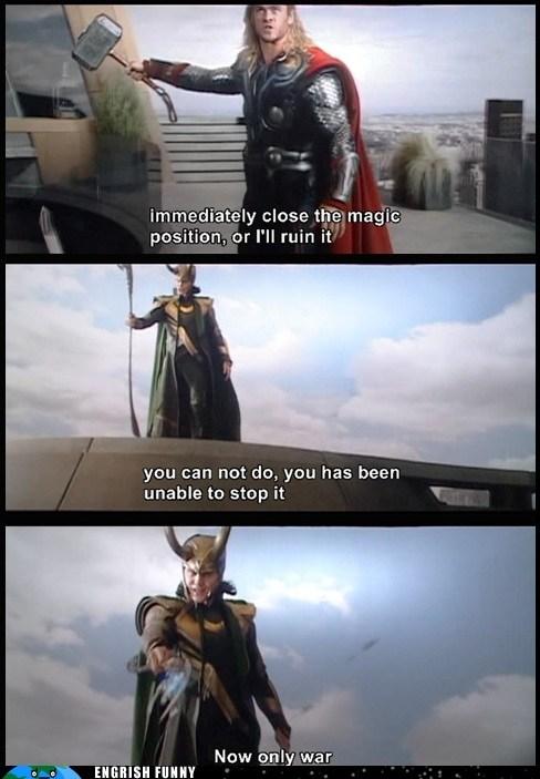 DVD engrish funny g rated loki subtitles The Avengers Thor - 6500415232