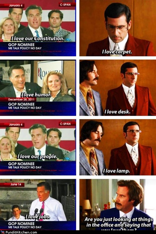 anchorman Mitt Romney political pictures Republicans - 6500507392