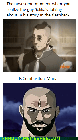 Avatar the Last Airbender,korra,avatar-the-last-airbende,combustion man,It Came From the,It Came From the Interwebz,sokka