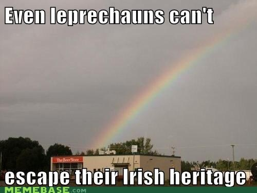 beer drinking gold Ireland irish leprechauns Memes
