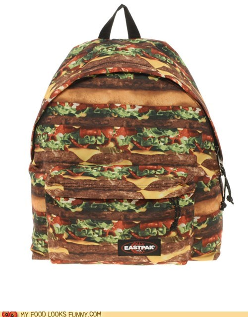 backpack burgers print