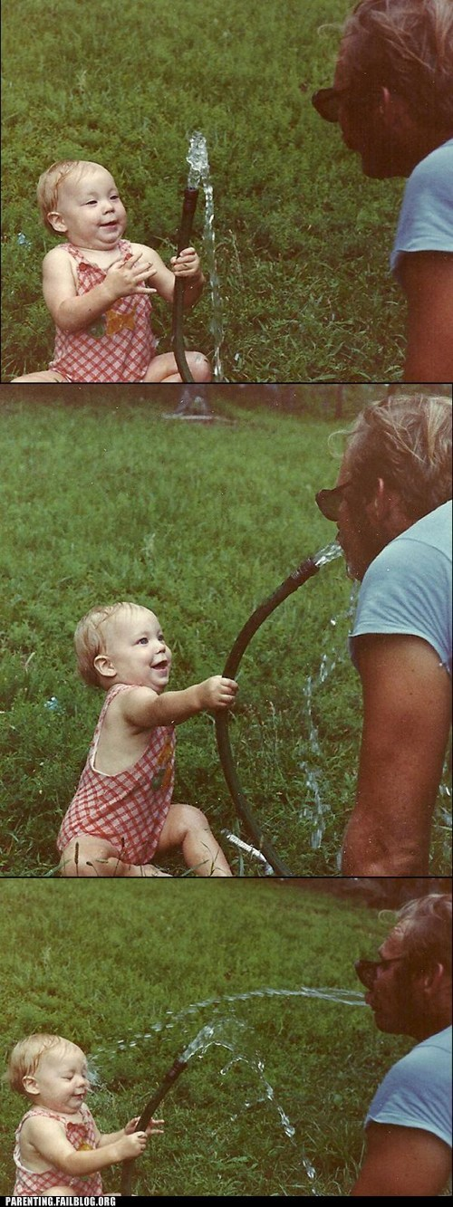 fatherdaughter,hose,squirt