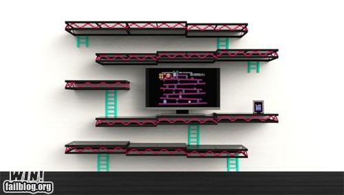 design donkey kong nerdgasm nintendo shelves - 6500905984