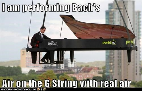 air Bach g string literal piano raising real - 6502557952