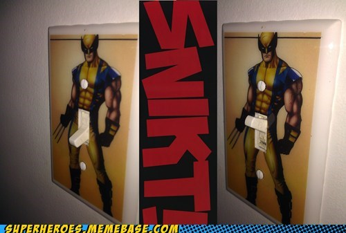 light switch,Random Heroics,snikt,wolverine