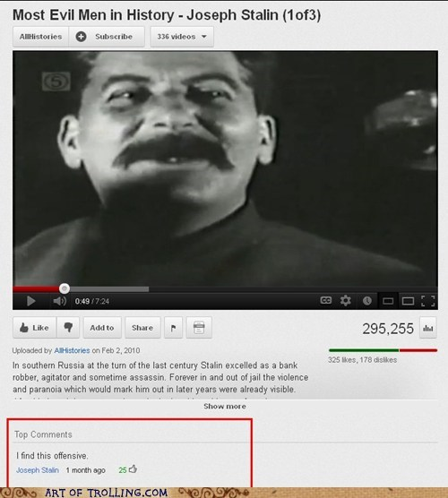 offensive Sad stalin youtube - 6502965504