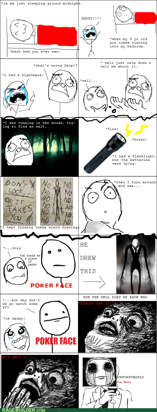 kids parenting Rage Comics slenderman