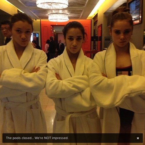 aly raisman gymnastics kyla ross london olympics 2012 mckayla is not impressed mckayla maroney Memes - 6503367936