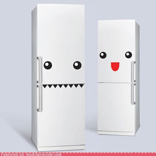 faces fridge kitchen stickers - 6503808768