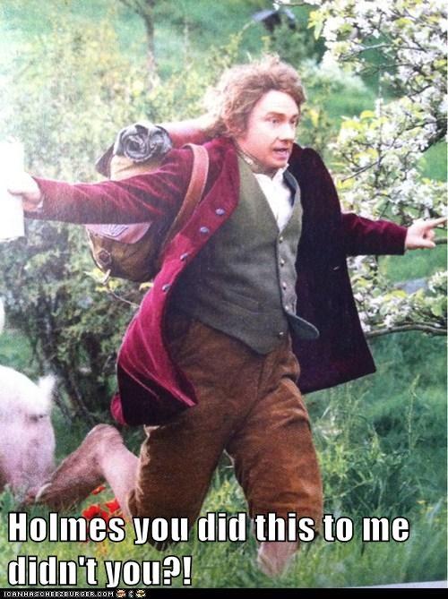 Bilbo Baggins blame holmes Martin Freeman Sherlock suspicion The Hobbit Watson - 6503813120