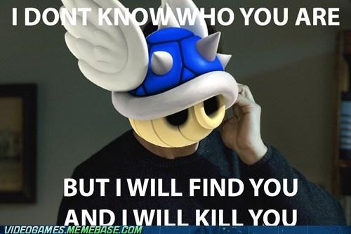 blue shell liam neeson Mario Kart meme taken - 6504023040