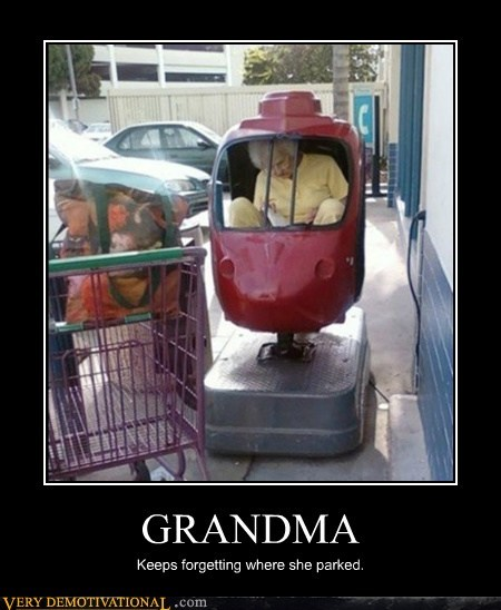 car forget grandma hilarious parked