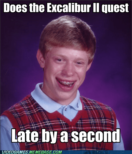 bad luck brian excalibur II Final Fantasy IX meme - 6504356608