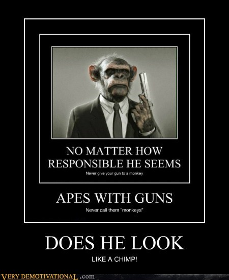 chimp pulp fiction wtf - 6505041920