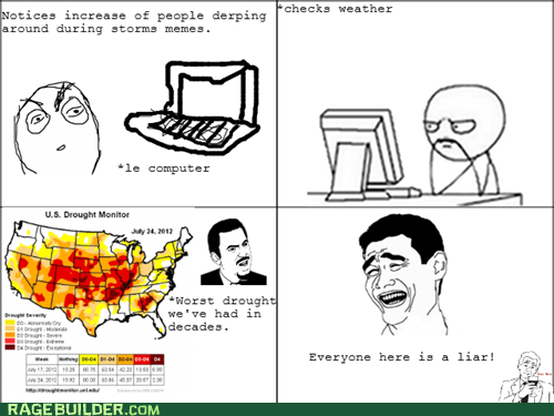heat wave,map,Rage Comics,storms