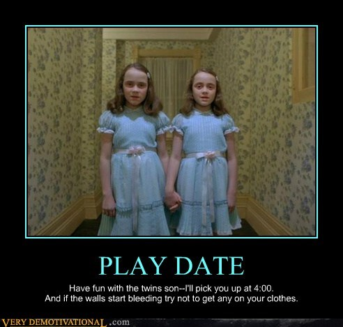 play date,shining,Terrifying,twins