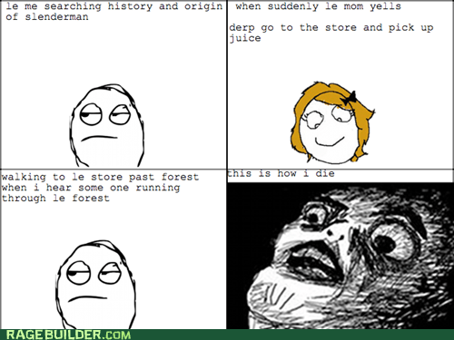Rage Comics,raisin face,scary,slenderman