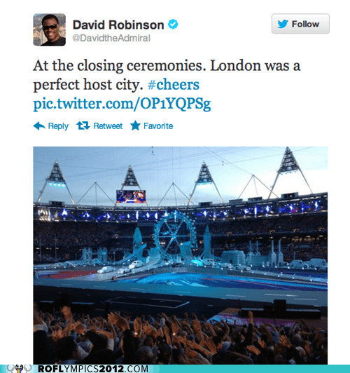closing ceremony david robinson funny London 2012 olympics twitter - 6505795840